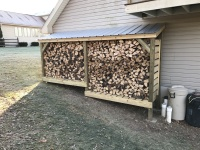 Woodshed Behind Garage